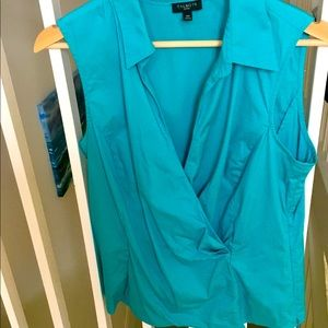 Talbots summer blue top